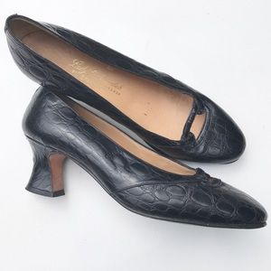 17c66762222f13 lady Continental Shoes - Vintage 60s genuine alligator Shoe 39 8 8.5 Mint